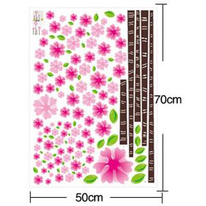 DIY Flower Removable Decorative Wall Stickers - PINK
