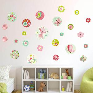 DIY Art Floral Removable Background Wall Stickers - COLORFUL