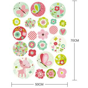DIY Art Floral Removable Background Wall Stickers -