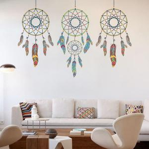 DIY Art Feather Aeolian Bell Removable Room Wall Stickers