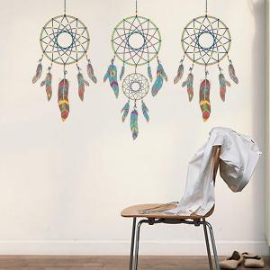 DIY Art Feather Aeolian Bell Removable Room Wall Stickers - COLORMIX