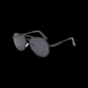 Crossbar Anti UV Metal Pilot Sunglasses - Black
