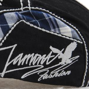 Sewing Thread Tartan Newsboy Cap with Embroidery -