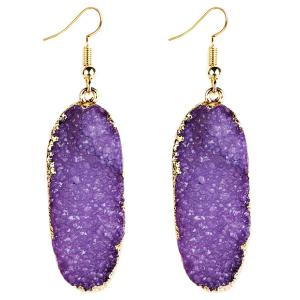 Fake Gemstone Drop Earrings