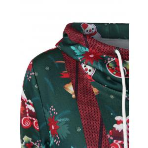Pullover Hoodie With Christmas Patterned - COLORMIX M