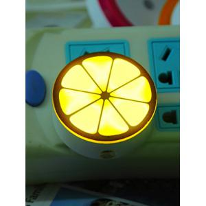 USB Lemon Shape Sensor Room Bedside LED Night Light - Yellow