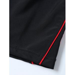 Panel Swimsuit Bottom Boy Shorts - BLACK 2XL