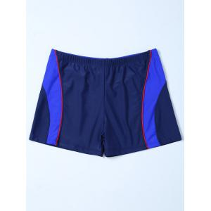 Contrast Panel Swimsuit Bottom Boyshorts