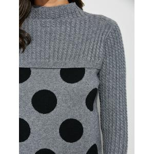 Polka Dot Mock Neck Sweater -
