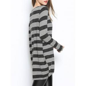 Casual Striped Oversized Knitwear -