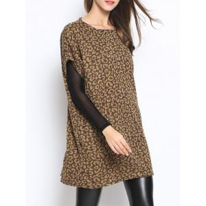Short Sleeve Pocket Oversized Sweater - CAMEL ONE SIZE