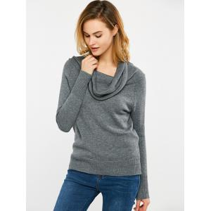 Convertible Off The Shoulder Sweater - GRAY 2XL