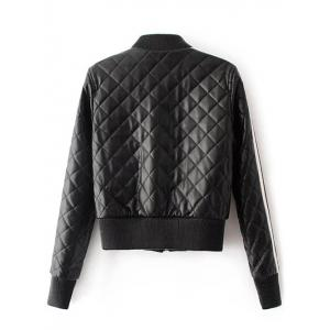 Quilted Croppd Faux Leather Jacket -