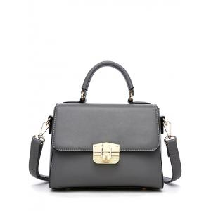 Metal PU Leather Crossbody Handbag