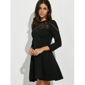 Crochet Openwork Swing Dress -
