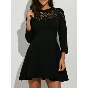 Crochet Openwork Swing Dress