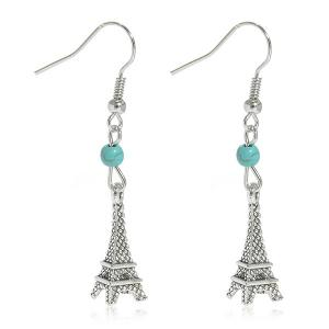 Artificial Turquoise Eiffel Tower Earrings