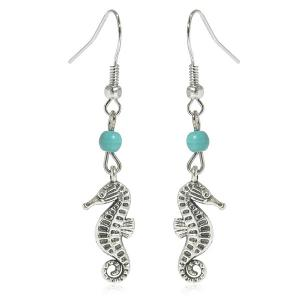 Artificial Turquoise Sea Horse Earrings