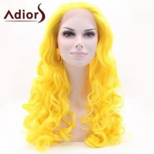 Adiors Long Fluffy Wavy Lace Front Synthetic Wig -