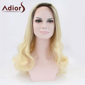 Adiors Long Fluffy Wavy Colormix Lace Front Synthetic Wig -