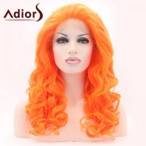 Adiors Long Shaggy Wavy Lace Front Synthetic Wig -