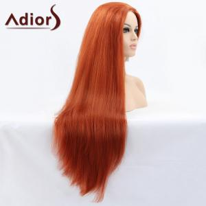 Adiors Ultra Long Middle Parting Natural Straight Lace Front Synthetic Wig -