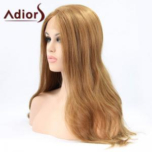 Adiors Long Middle Parting Fluffy Wavy Lace Front Synthetic Wig -