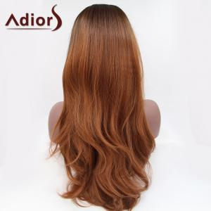 Adiors Long Color Mixed Slightly Curled Lace Front Synthetic Wig -