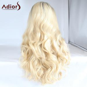Adiors Long Color Mixed Side Parting Wavy Lace Front Synthetic Wig -