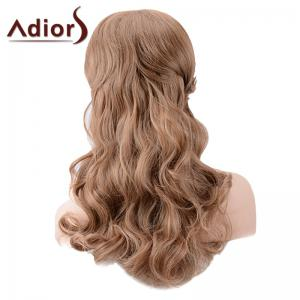 Adiors Long Side Bang Colormix Shaggy Body Wave Synthetic Wig -