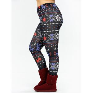 Christmas Plus Size Fair Isle Leggings