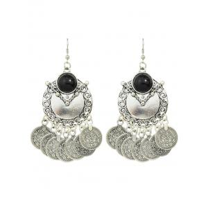Ethnic Style Disc Fringe Drop Earrings