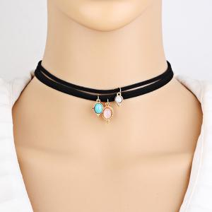 Layered Faux Gemstone Choker Necklaces