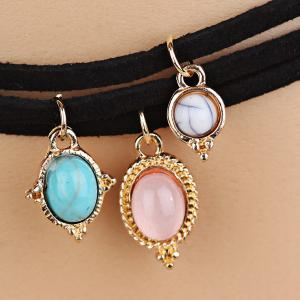 Layered Faux Gemstone Choker Necklaces -