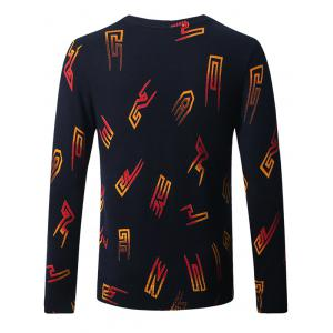 Thicken 3D Graphic Crew Neck Long Sleeve Sweater -