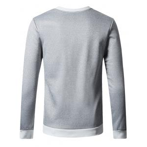 Plus Size Crew Neck Flocking Thicken Sweatshirt - GRAY 4XL