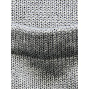 Flat Knitted Pocket Hooded Open Front Cardigan -