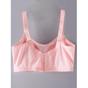 Plus Size Pendant Decorated Full Cup Bra - PINK 85D