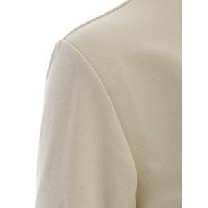 Asymmetric Button Up Blazer - APRICOT XL
