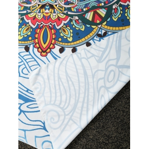 Sunbath Totem Print Rectangle Beach Throw - COLORMIX ONE SIZE