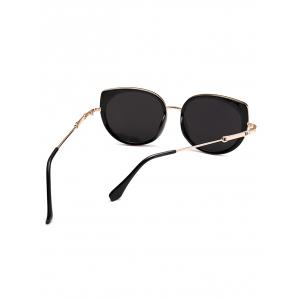 Metal Full Rims Cat Eye Affordable Polarized Sunglasses - BLACK
