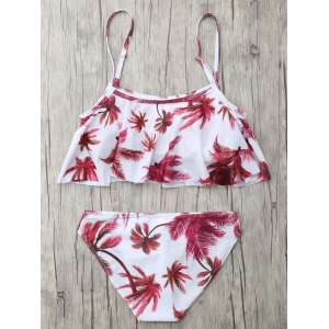 Flounce Coconut Palm Bikini Set - FLORAL XL