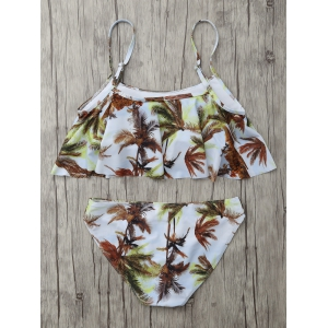 Coconut Palm Padded Bikini Set - WHITE XL