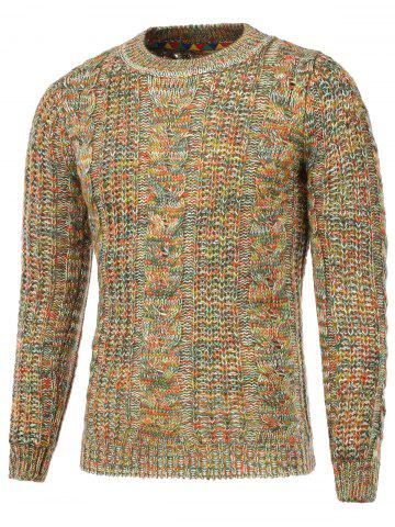 Shops Colorful Cable Knit Crew Neck Sweater