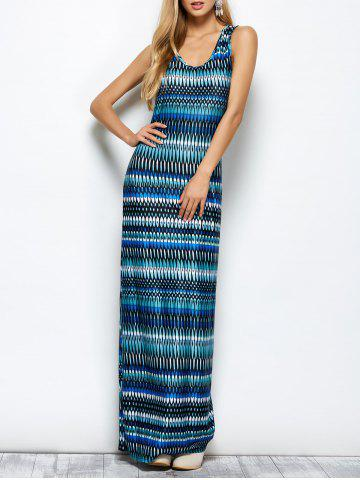 Store Maya Geometry Printed Tank Maxi Dress