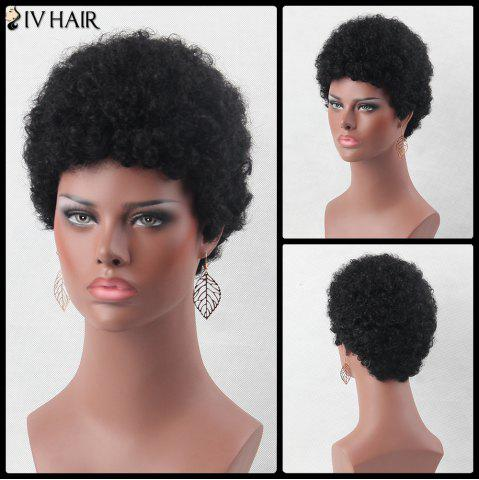 Latest Ultrashort Fluffy Curly Real Natural Hair Wig
