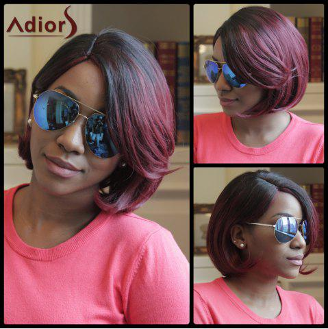 Unique Adiors Short Straight Side Parting Highlight Bob Synthetic Wig COLORMIX