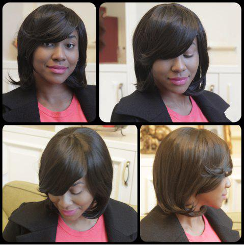Sale Adiors Straight Short Side Bang Bob Synthetic Wig