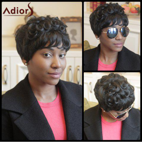 Outfits Adiors Pixie Cut Short Curly Neat Bang Synthetic Wig