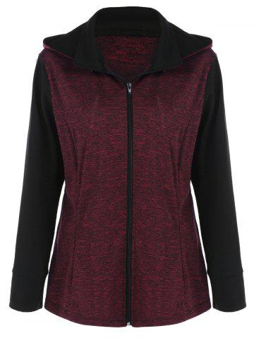 Sale Plus Size Heather Hooded Coat